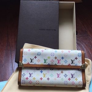 Authentic Louis Vuitton Murakami multicolor wallet